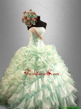 Pretty 2016 Strapless Quinceanera Dresses with Beading and Ruffles SWQD030FOR