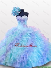 Top Seller Beading and Sequins Sweetheart Quinceanera Dresses for 2015 Fall SWQD012FOR