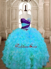 Unique Baby Blue Quinceanera Dress with Beading and Ruffles SWQD175-5FOR