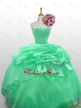 2015 Fall Beautiful Strapless Quinceanera Dresses with Appliques SWQD010-6FOR
