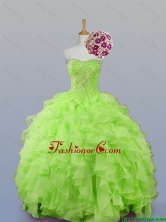2015 Fall Perfect Sweetheart Beaded Quinceanera Dresses with Ruffles SWQD007-9FOR
