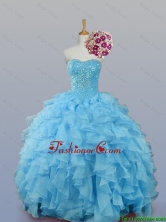2015 Fall Pretty Sweetheart Quinceanera Dresses with Ruffles SWQD007-2FOR