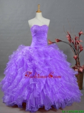 2015 Summer New Style Ball Gown Sweetheart Beading Quinceanera Dresses SWQD002-11FOR