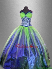 2016 Popular Ball Gown Sweet 16 Gowns with Beading and Ruffles SWQD041-4FOR