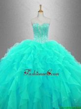 Ball Gown Elegant Sweet 16 Dresses with Beading and Ruffles SWQD033-1FOR