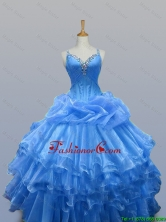 Beautiful Beaded Quinceanera Dresses with Ruffled Layers for 2015 Fall SWQD003-10FOR