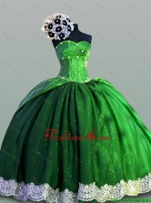 Beautiful Laced Sweetheart Green Quinceanera Dresses for 2015 Summer SWQD004-2FOR
