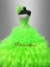 Best Selling Strapless Quinceanera Gowns in Spring Green  SWQD044-5FOR