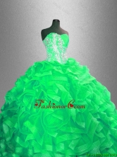 Classical Ball Gown Sweet 16 Dresses with Beading and Ruffles