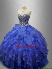 Classical Beaded Blue Quinceanera Gowns with Ruffles SWQD029-5FOR