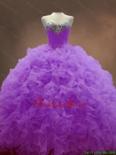 Custom Made Sweetheart Lilac Quinceanera Dresses with Beading and RufflesSWQD053-2FOR