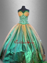Discount Beaded Multi Color Quinceanera Gowns in Multi Color  SWQD041-2FOR