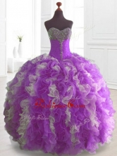 Elegant Multi Color Sweet 16 Dresses with Beading and RufflesSWQD074-2FOR