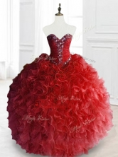 Exquisite Ball Gown Sweet 16 Gowns with Beading and RufflesSWQD066-2FOR