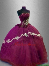 Fashionable Strapless Sweet 16 Dresses with Appliques SWQD024-1FOR