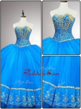 Fashionable Sweetheart Quinceanera Gowns with Appliques and BeadingSWQD055FOR