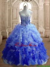 Hot Sale Big Puffy Gradient Color Quinceanera Dress with Beading and Ruffles SWQD150-4FOR