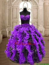 Latest Big Puffy Beading and Ruffles Quinceanera Dress in Organza SWQD159-3FOR