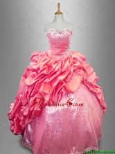 Latest Strapless Beaded Quinceanera Dresses in Coral Red SWQD039-2FOR