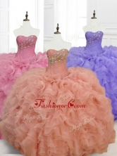 Low Price Ball Gown Sweetheart Quinceanera Dresses with Beading SWQD068FOR