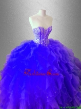 Luxurious Ball Gown Ruffles and Beaed Sweet 16 Dresses SWQD036-3FOR