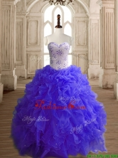 Most Popular Beaded Bodice and Ruffled Quinceanera Dress with Puffy Skirt SWQD148-5FOR