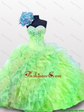 New Arrival 2016 Summer Quinceanera Dresses with Sequins and Ruffles SWQD012-9FOR
