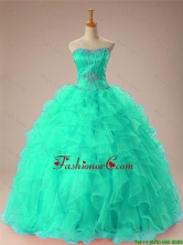 New Arrival 2016 Summer Sweetheart Beaded Quinceanera Dresses with Ruffles SWQD009-6FOR