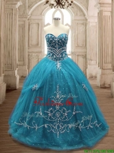 New Arrivals Big Puffy Sweet 16 Dress in Teal SWQD137-3FOR