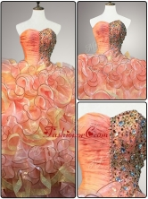 New Arrivals Multi Color Quinceanera Dresses with Beading and RufflesSWQD057FOR