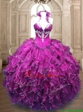 New Arrivals Organza Quinceanera Dress with Appliques and Ruffles SWQD174FOR