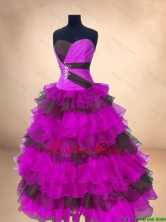 Perfect Ball Gown Floor Length Quinceanera Gowns in Multi Color SWQD054-2FOR