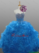 Perfect Beaded Quinceanera Gowns in Organza for 2015 Fall SWQD008-6FOR