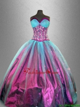 Perfect Sweetheart Beaded Sweet 16 Dresses in Tulle for 2016SWQD041FOR