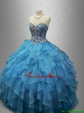 Perfect Sweetheart Quinceanera Dresses with Beading and Ruffles SWQD029FOR
