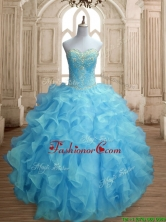 Popular Beaded and Ruffled Quinceanera Dress in Baby Blue SWQD155-5FOR