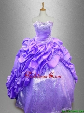 Popular Strapless 2016 Quinceanera Dresses with Sequins SWQD039-4FOR