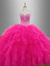 Popular Sweetheart Quinceanera Dresses with Beading and Ruffles for 2016 SWQD033FOR