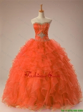 Pretty 2016 Summer Sweetheart Beaded Quinceanera Gowns in Organza SWQD009-2FOR