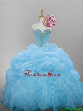 Pretty 2016 Summer Sweetheart Quinceanera Dresses with Beading and Ruffled Layers SWQD014-10FOR