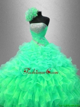 Ruffles and Sequined Beautiful Sweet 16 Dresses with Strapless SWQD044-2FOR