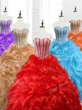 Hot Sale Ball Gown Sweetheart Quinceanera Dresses with Beading SWQD063FOR