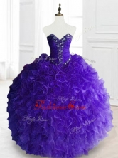 New Style Purple Sweet 16 Dresses with Beading and RufflesSWQD066-4FOR