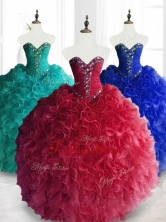 2016 Gorgeous Ball Gown Sweetheart Quinceanera Dresses with Beading SWQD066FOR