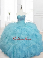 Cheap Ball Gown Sweet 15 Dresses with Beading and RufflesSWQD068-2FOR