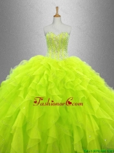 Yellow Green Beautiful Quinceanera Dresses with Ruffles SWQD033-8FOR