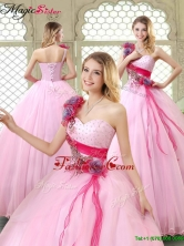 Summer New Arrivals Beading Quinceanera Gowns with One Shoulder YCQD040FOR
