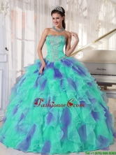 2016 Elegant Multi Color Strapless Floor Length Appliques Quinceanera Dresses with Beading PDZY471-26FOR