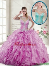 2016 New Style Ball Gown Beaded Quinceanera Gowns in Lilac SJQDDT114002A-1FOR