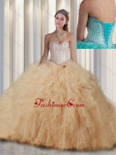 2016 New Style Ball Gown Sweet 16 Dresses with Beading and Ruffles SJQDDT299002FOR